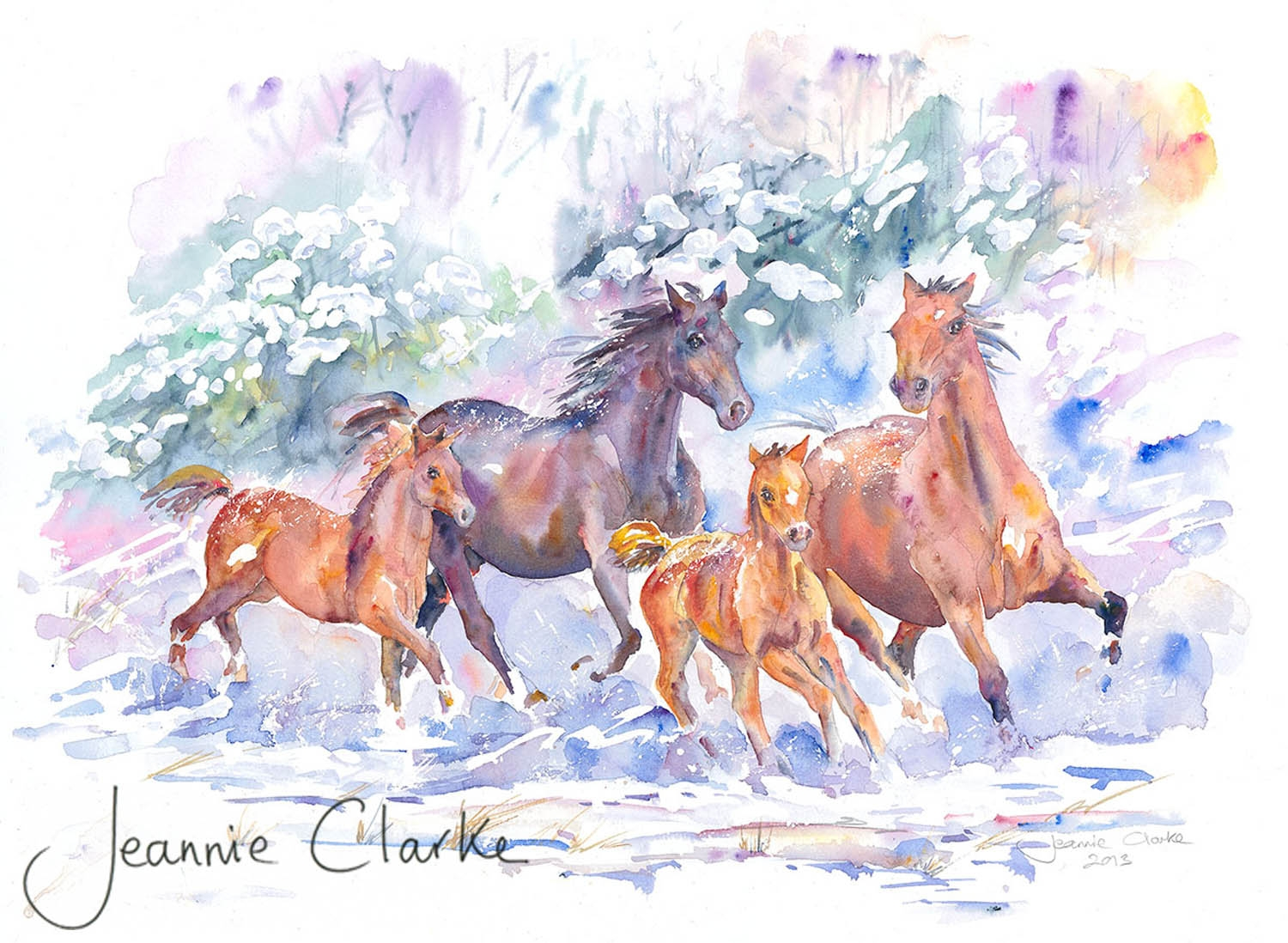 watercolour - part of the Christmas 2013 collection original available - also limited edition fine art print and greeting card